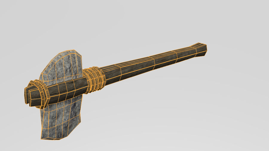 Stone Axe royalty-free 3d model - Preview no. 7