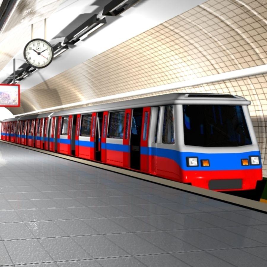 Cartoon Subway Station royalty-free 3d model - Preview no. 4