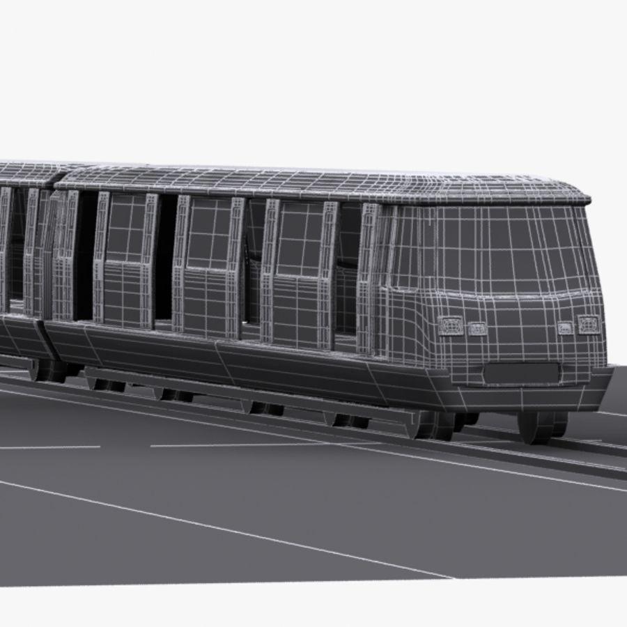 Cartoon Subway Station royalty-free 3d model - Preview no. 10