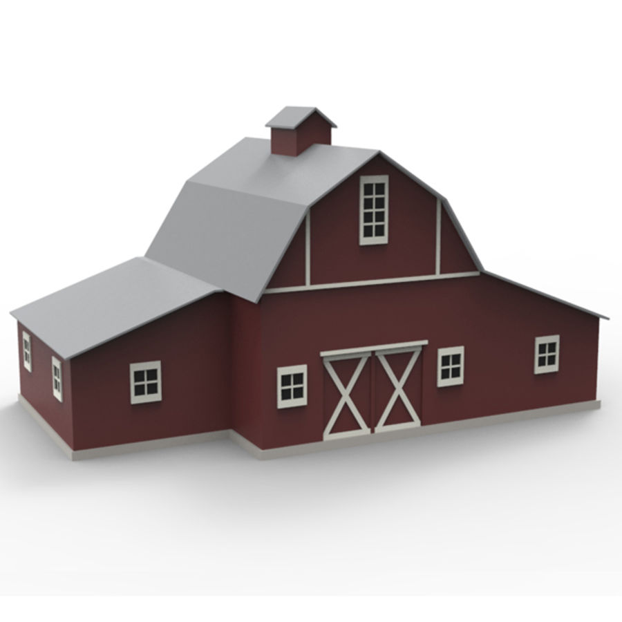 Old barn royalty-free 3d model - Preview no. 2
