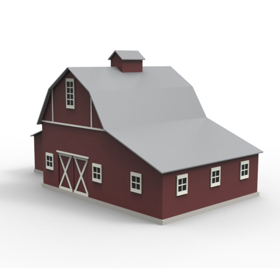 Old barn royalty-free 3d model - Preview no. 3