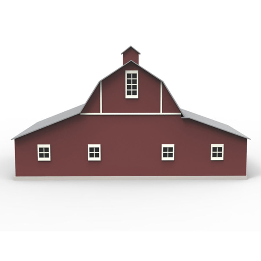 Old barn royalty-free 3d model - Preview no. 5