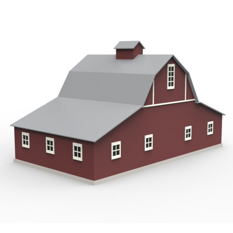 Old barn royalty-free 3d model - Preview no. 4