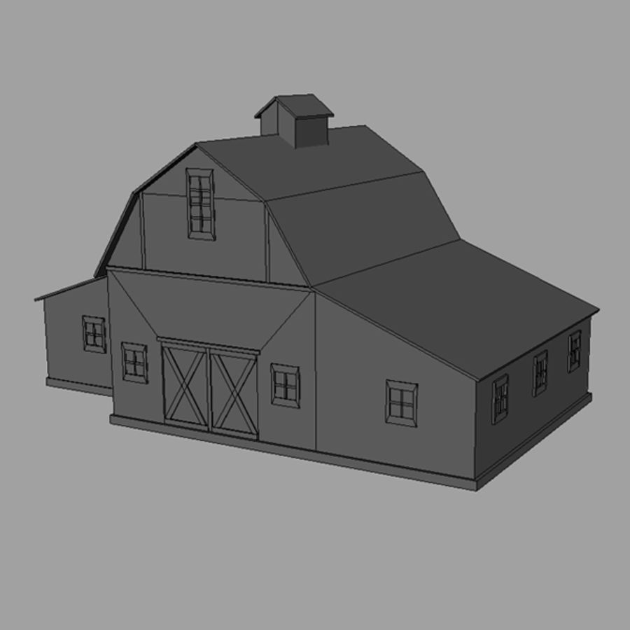 Old barn royalty-free 3d model - Preview no. 7