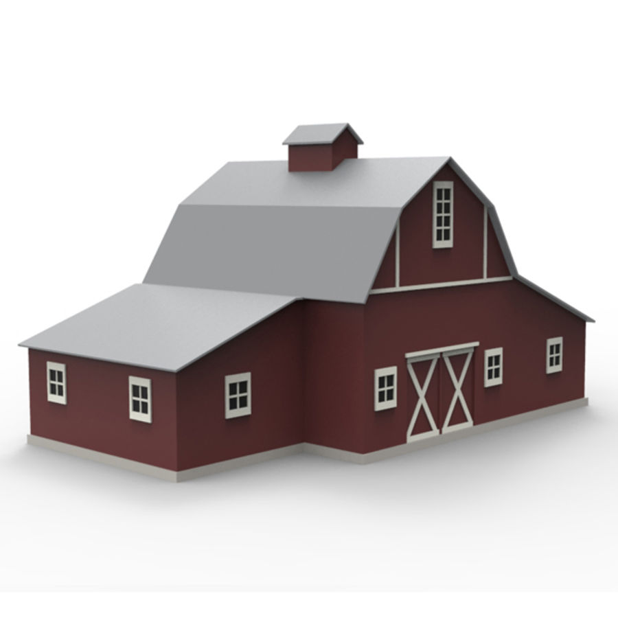 Old barn royalty-free 3d model - Preview no. 1