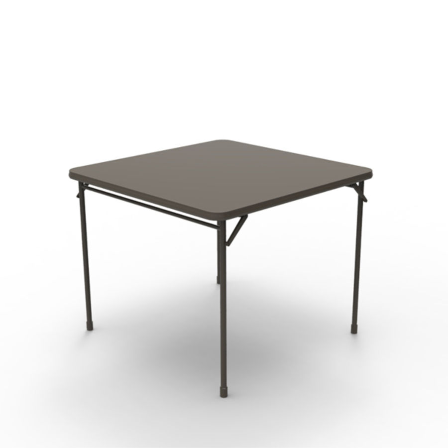 Card table royalty-free 3d model - Preview no. 4