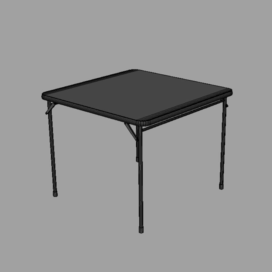 Card table royalty-free 3d model - Preview no. 5