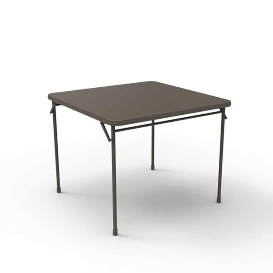 Card table royalty-free 3d model - Preview no. 3