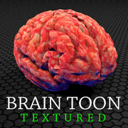 brain toon TEXTURED 3d model
