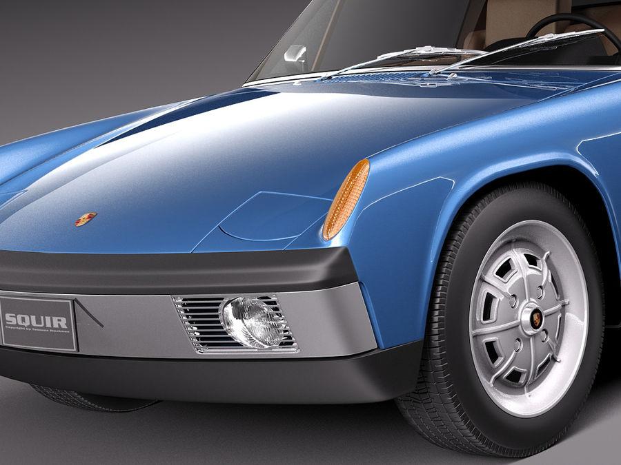 Porsche 914 1969-1976 royalty-free 3d model - Preview no. 4
