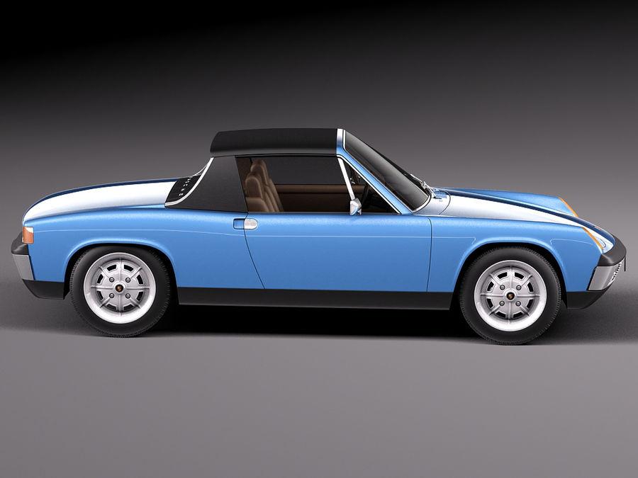 Porsche 914 1969-1976 royalty-free 3d model - Preview no. 9