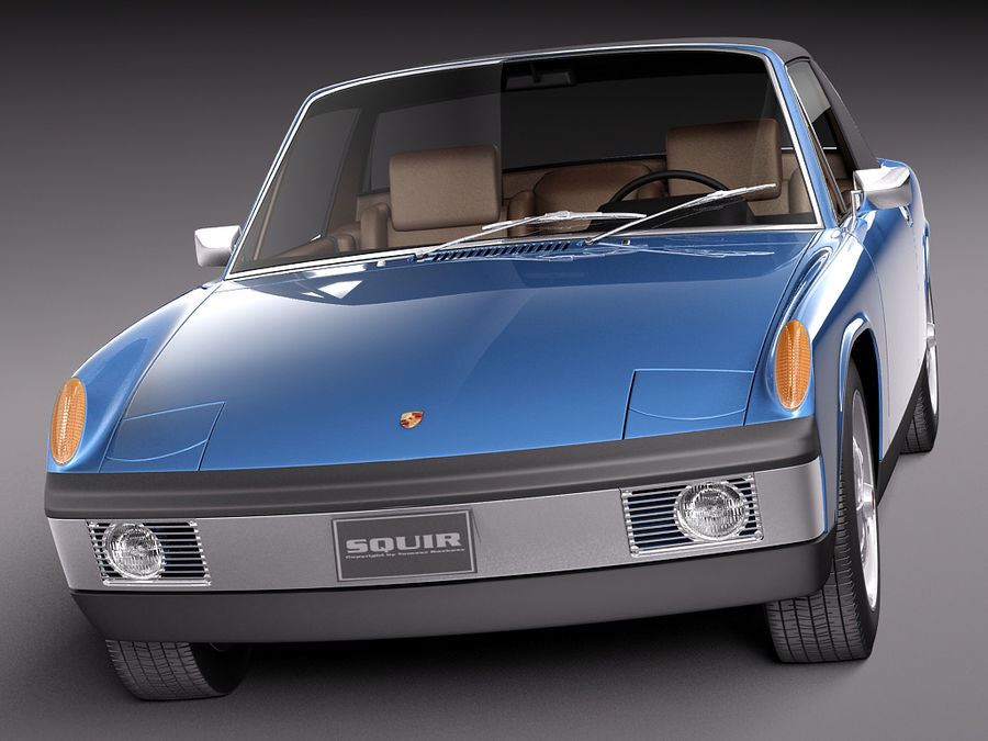 Porsche 914 1969-1976 royalty-free 3d model - Preview no. 3
