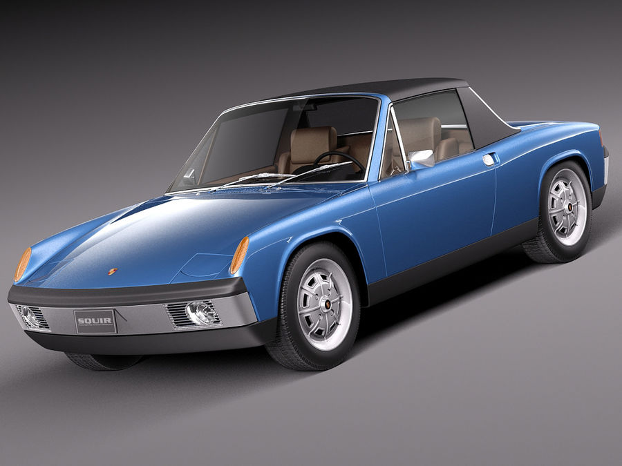 Porsche 914 1969-1976 royalty-free 3d model - Preview no. 1