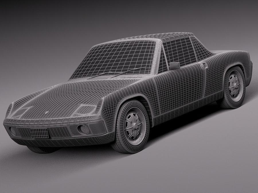 Porsche 914 1969-1976 royalty-free 3d model - Preview no. 16