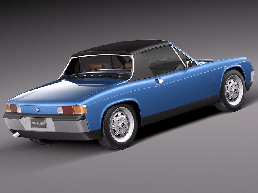 Porsche 914 1969-1976 royalty-free 3d model - Preview no. 6