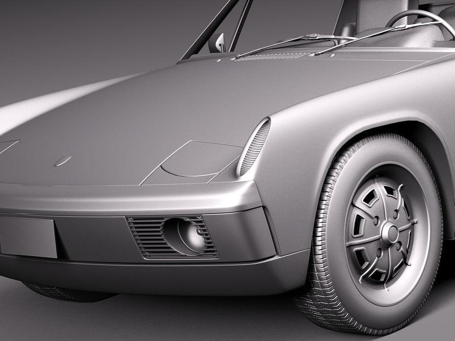 Porsche 914 1969-1976 royalty-free 3d model - Preview no. 13