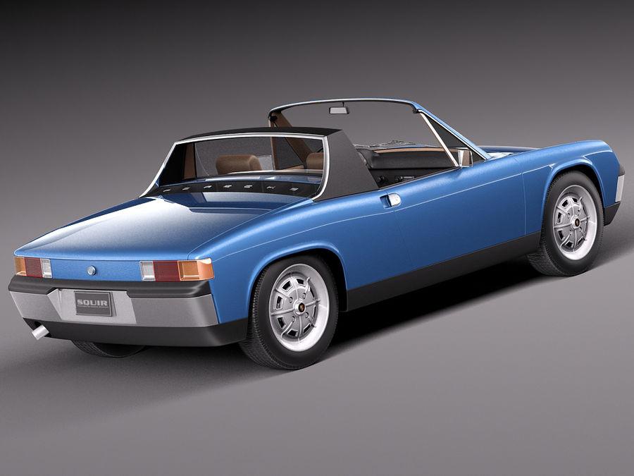 Porsche 914 1969-1976 royalty-free 3d model - Preview no. 7