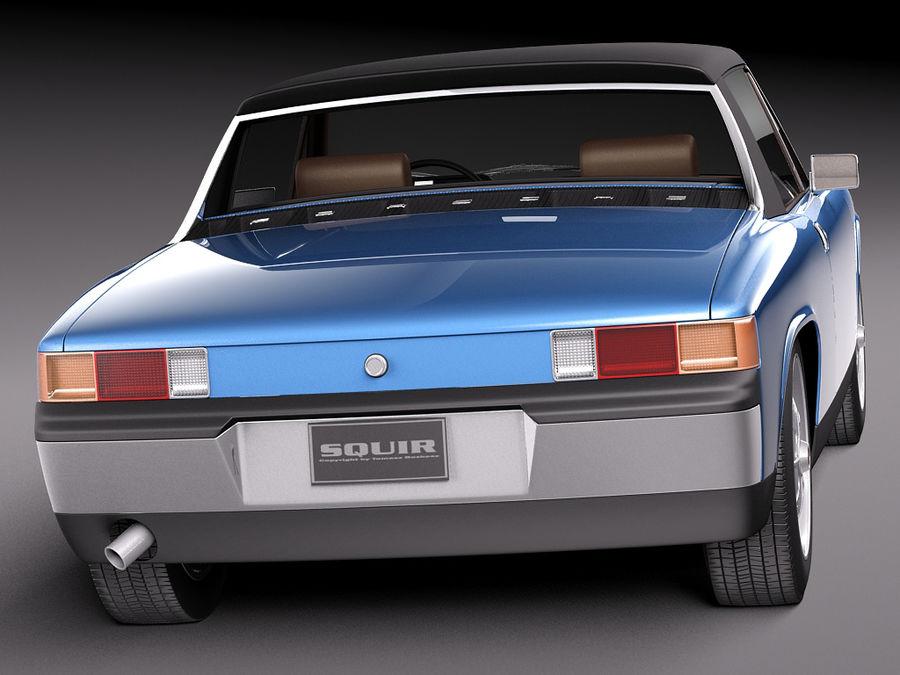 Porsche 914 1969-1976 royalty-free 3d model - Preview no. 8