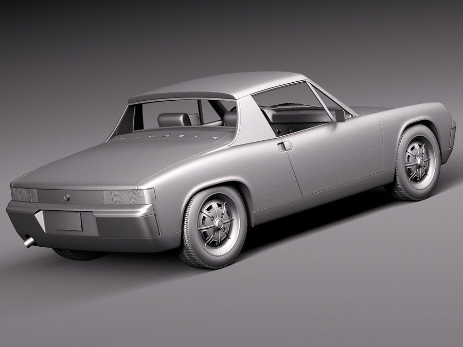 Porsche 914 1969-1976 royalty-free 3d model - Preview no. 15