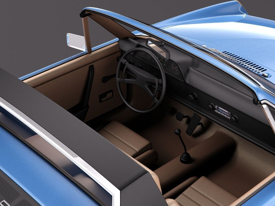 Porsche 914 1969-1976 royalty-free 3d model - Preview no. 11