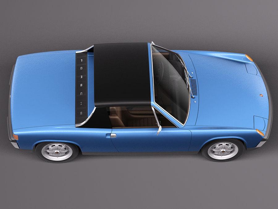 Porsche 914 1969-1976 royalty-free 3d model - Preview no. 10