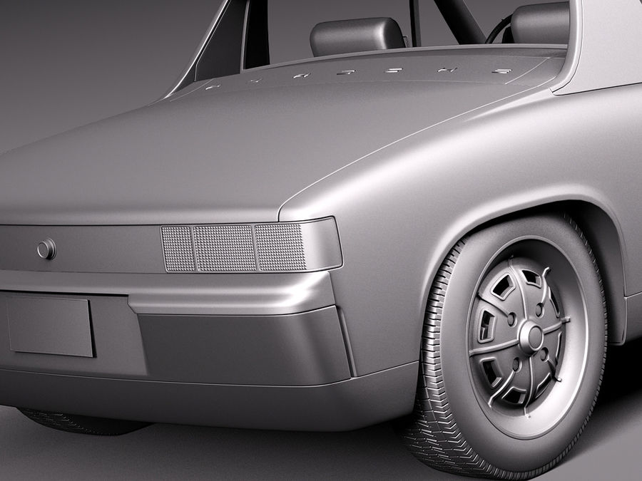 Porsche 914 1969-1976 royalty-free 3d model - Preview no. 14