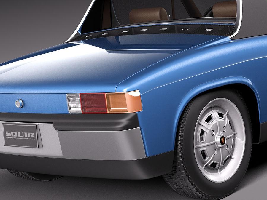 Porsche 914 1969-1976 royalty-free 3d model - Preview no. 5