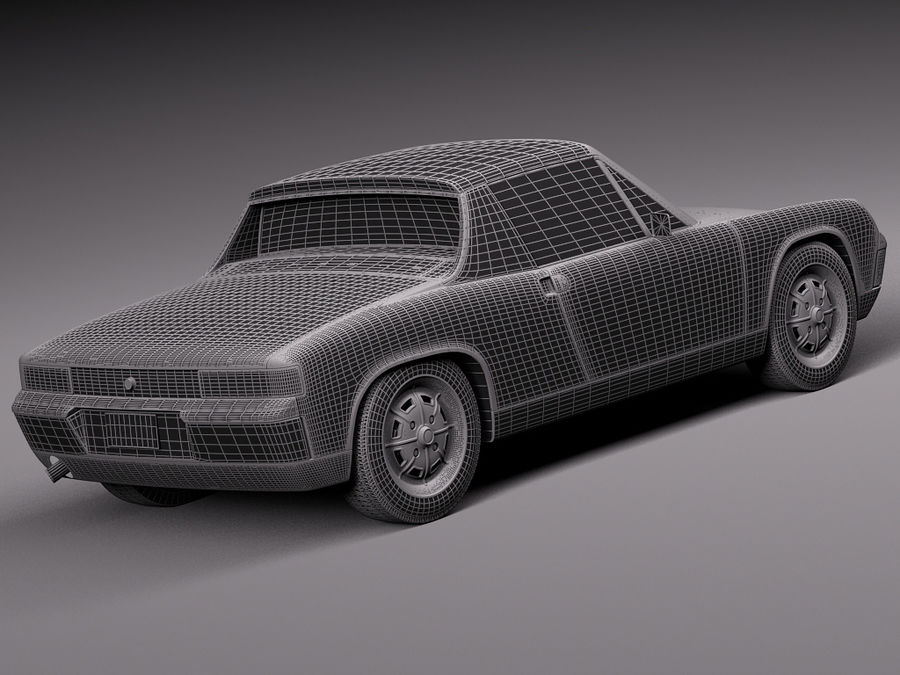 Porsche 914 1969-1976 royalty-free 3d model - Preview no. 17