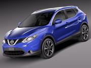 Nissan Qashqai 2014 3d model
