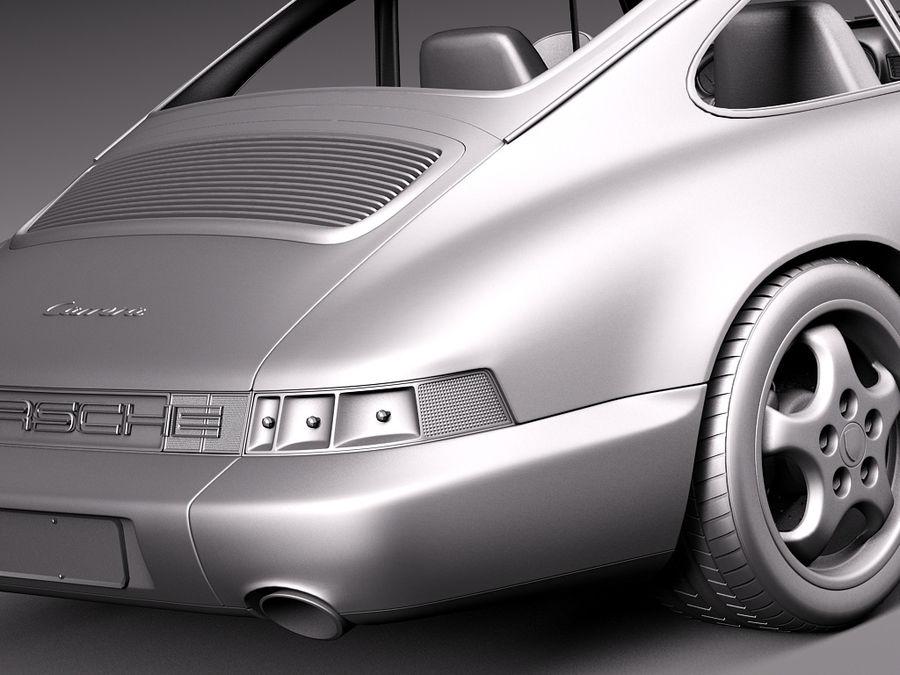 Porsche 911 964 Carrera 1990 royalty-free 3d model - Preview no. 17