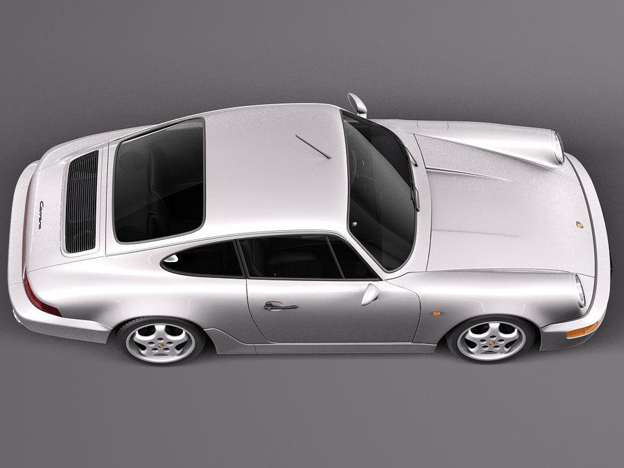Porsche 911 964 Carrera 1990 royalty-free 3d model - Preview no. 8