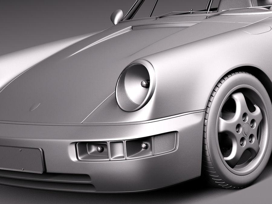 Porsche 911 964 Carrera 1990 royalty-free 3d model - Preview no. 16