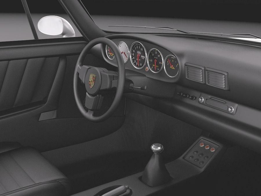 Porsche 911 964 Carrera 1990 royalty-free 3d model - Preview no. 9