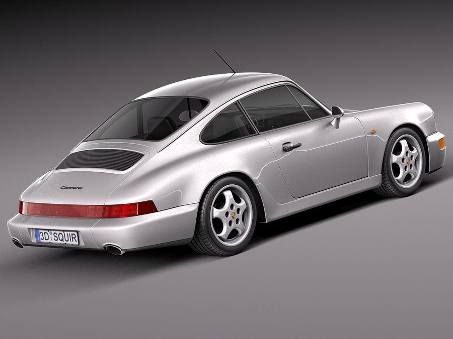 Porsche 911 964 Carrera 1990 royalty-free 3d model - Preview no. 5