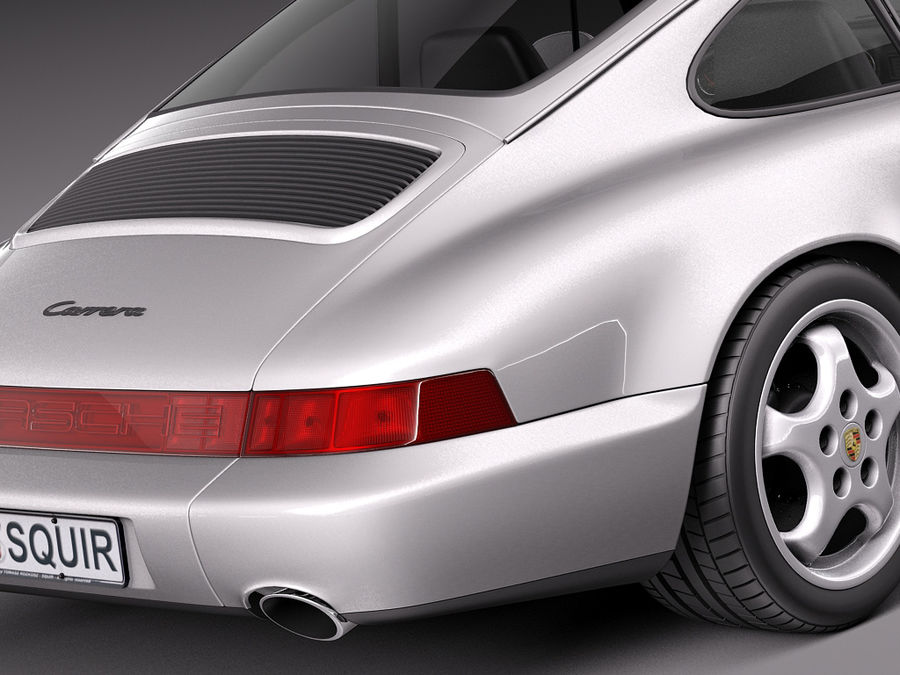 Porsche 911 964 Carrera 1990 royalty-free 3d model - Preview no. 4