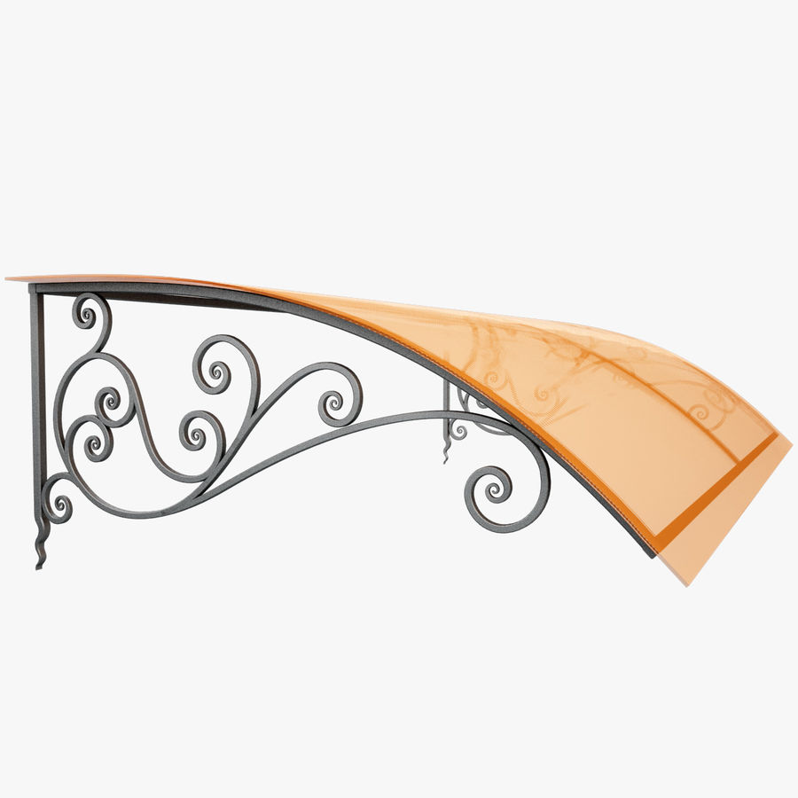 Wrought Iron Awning 18 royalty-free 3d model - Preview no. 1