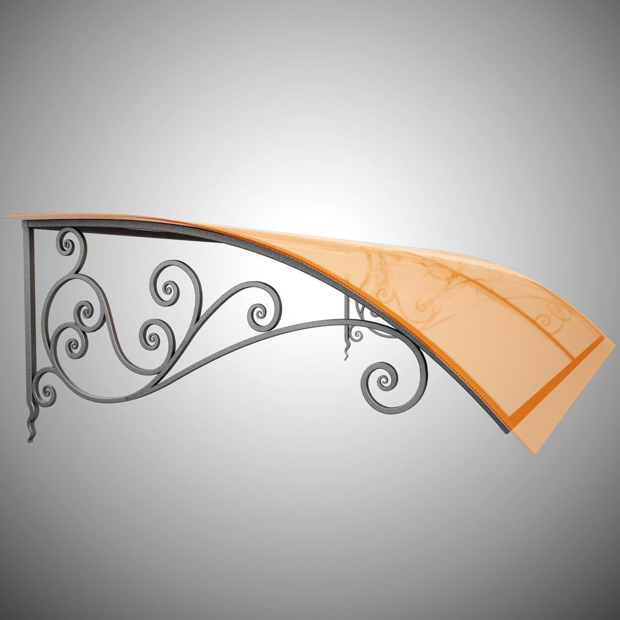 Wrought Iron Awning 18 royalty-free 3d model - Preview no. 2