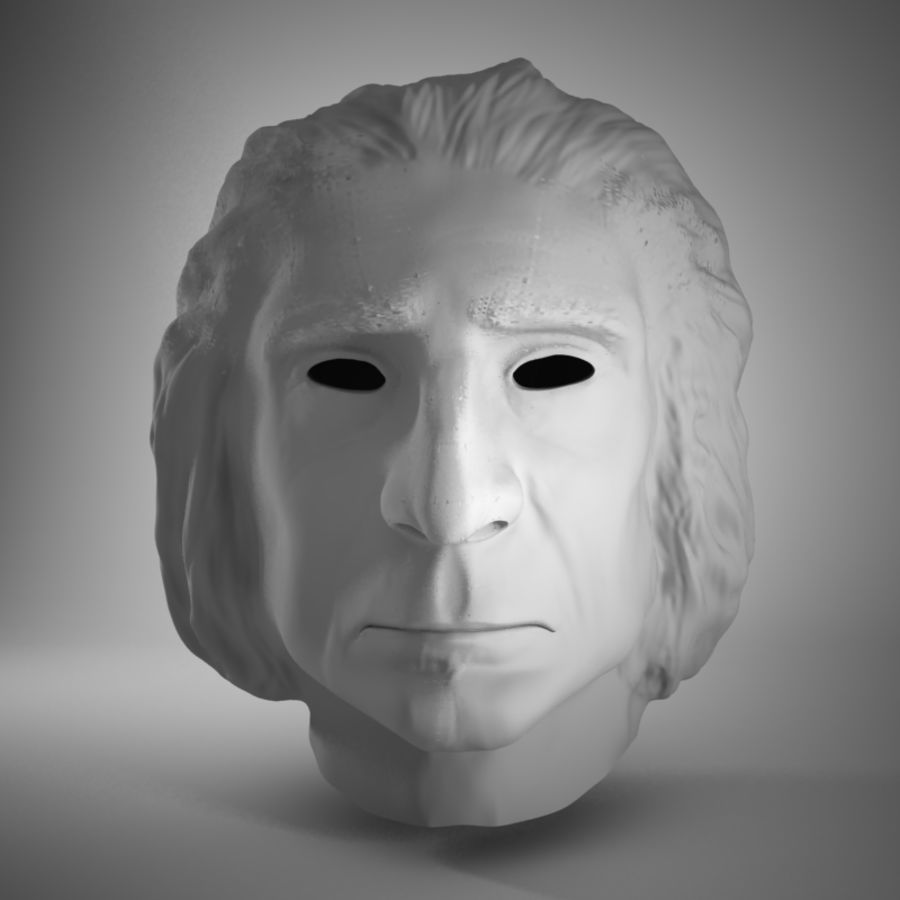 Old Man Head royalty-free 3d model - Preview no. 1