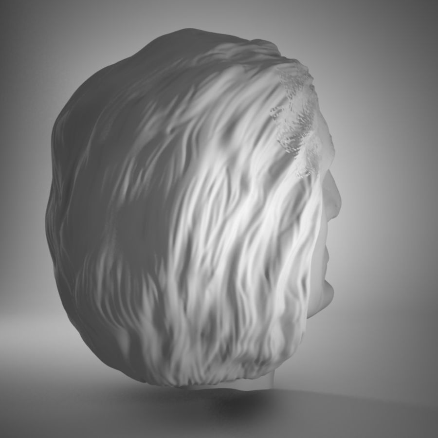 Old Man Head royalty-free 3d model - Preview no. 6