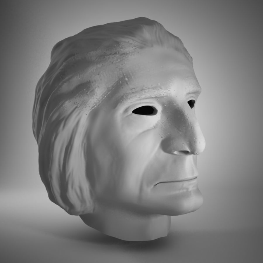 Old Man Head royalty-free 3d model - Preview no. 2