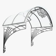 Wrought Iron Awning 6 3d model