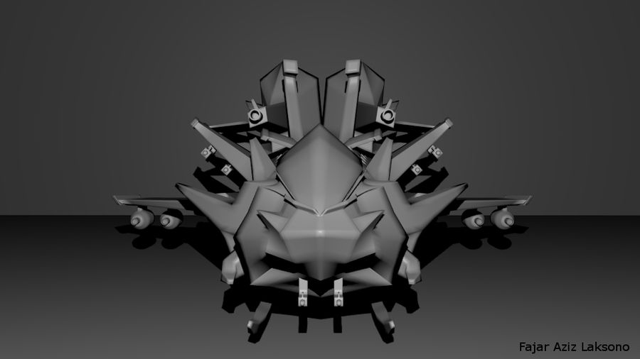 SCI FI SpaceShip royalty-free 3d model - Preview no. 5