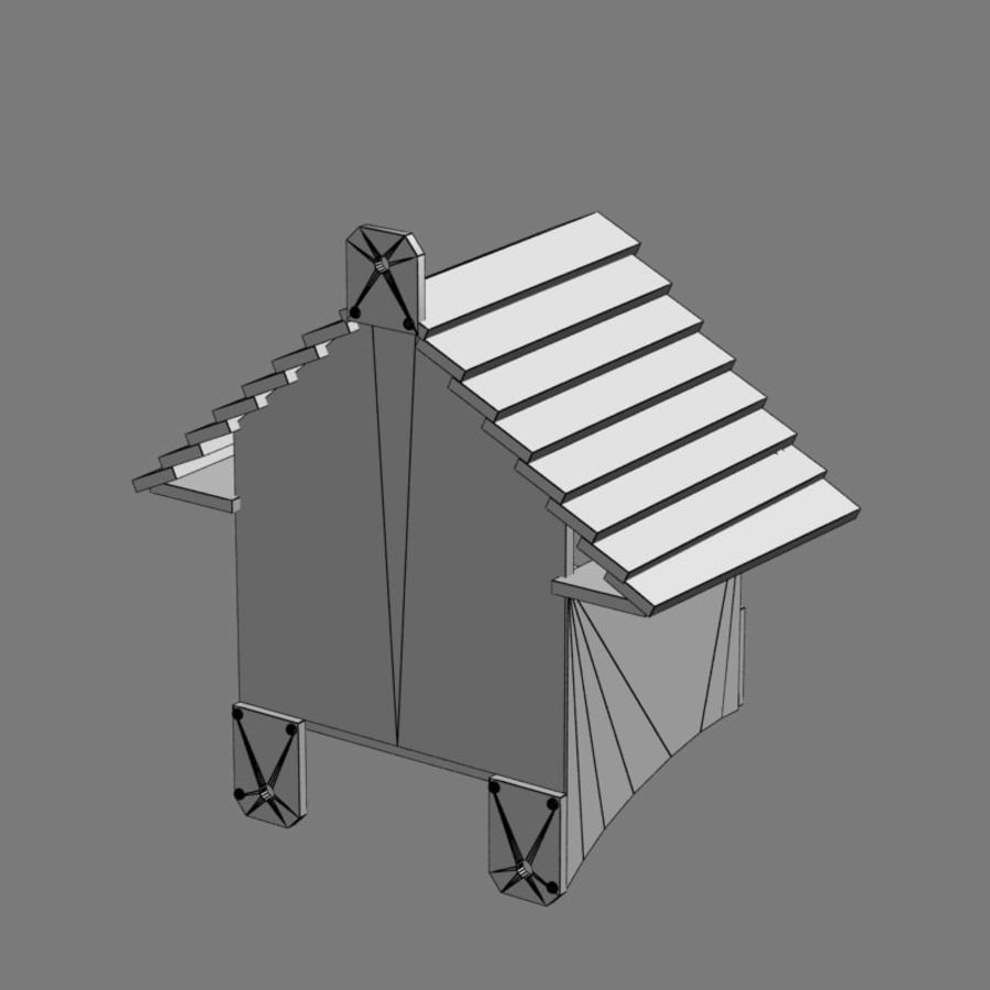 Bird House 2 royalty-free 3d model - Preview no. 7