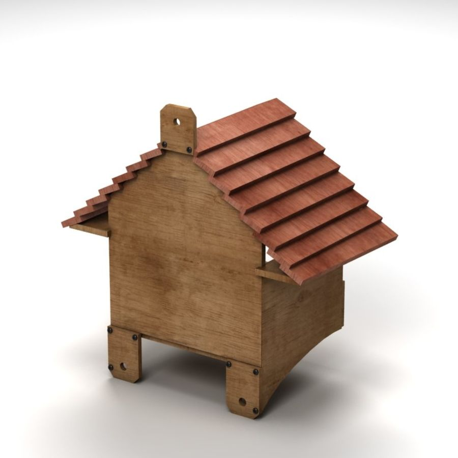 Bird House 2 royalty-free 3d model - Preview no. 4