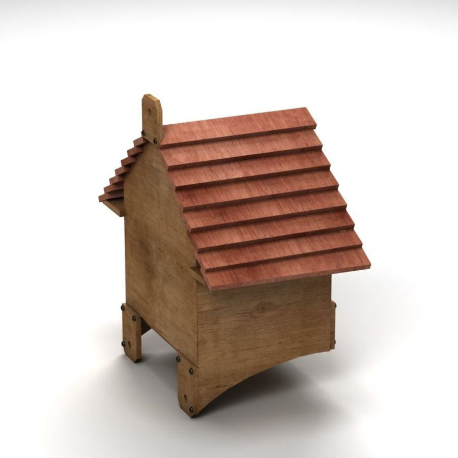Bird House 2 royalty-free 3d model - Preview no. 3