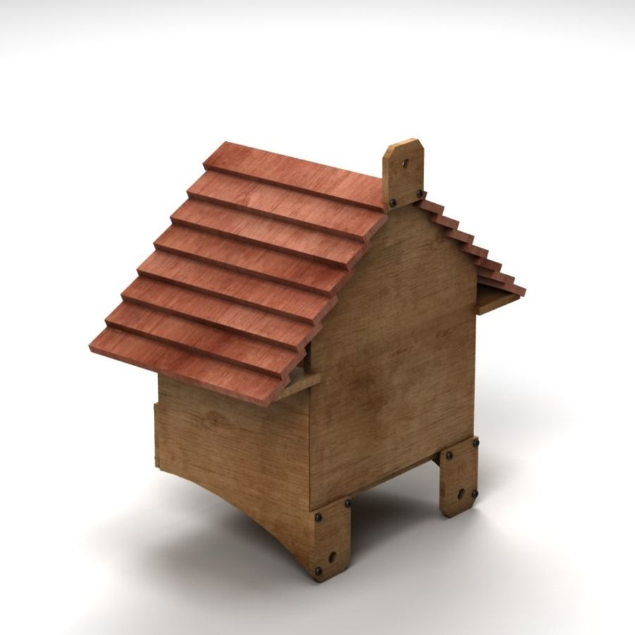Bird House 2 royalty-free 3d model - Preview no. 5