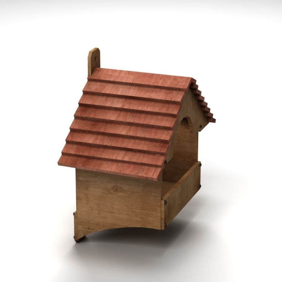 Bird House 2 royalty-free 3d model - Preview no. 2