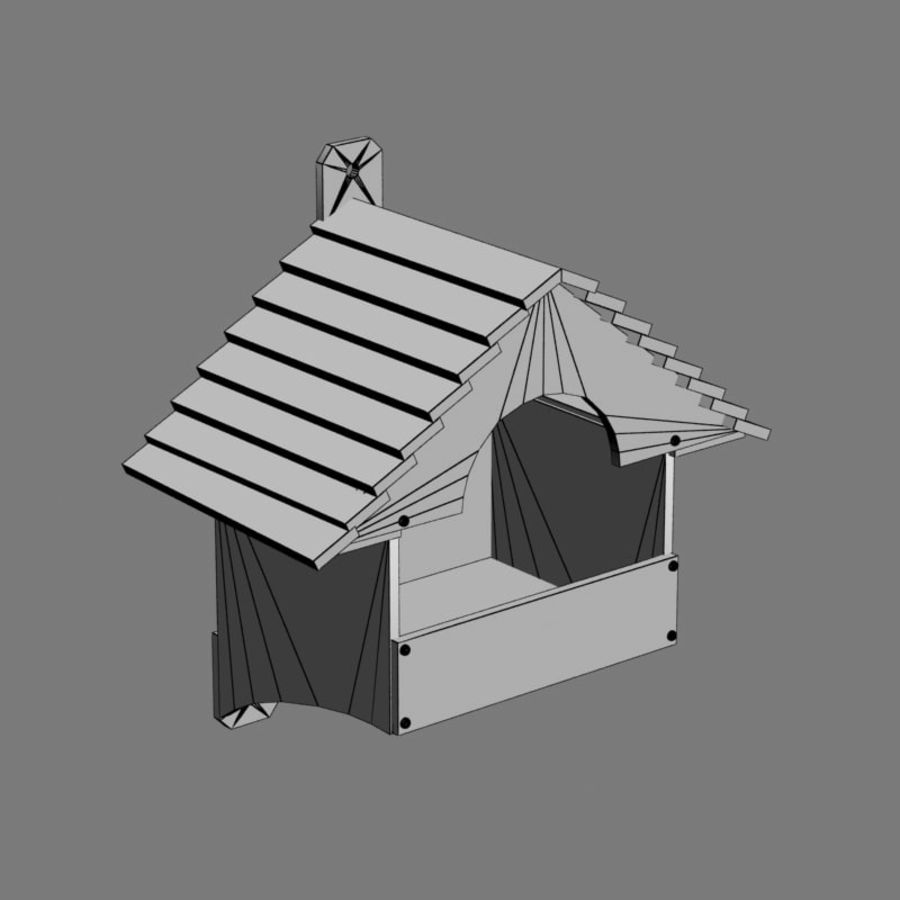 Bird House 2 royalty-free 3d model - Preview no. 6