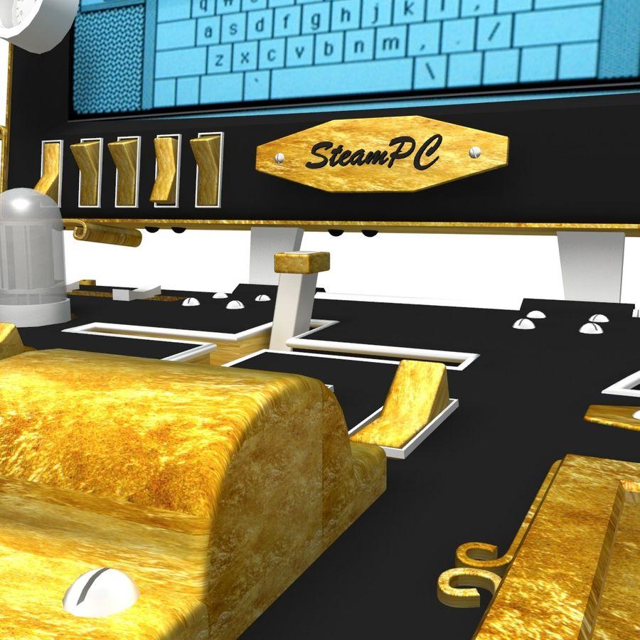 SteamPunk Laptop royalty-free 3d model - Preview no. 5
