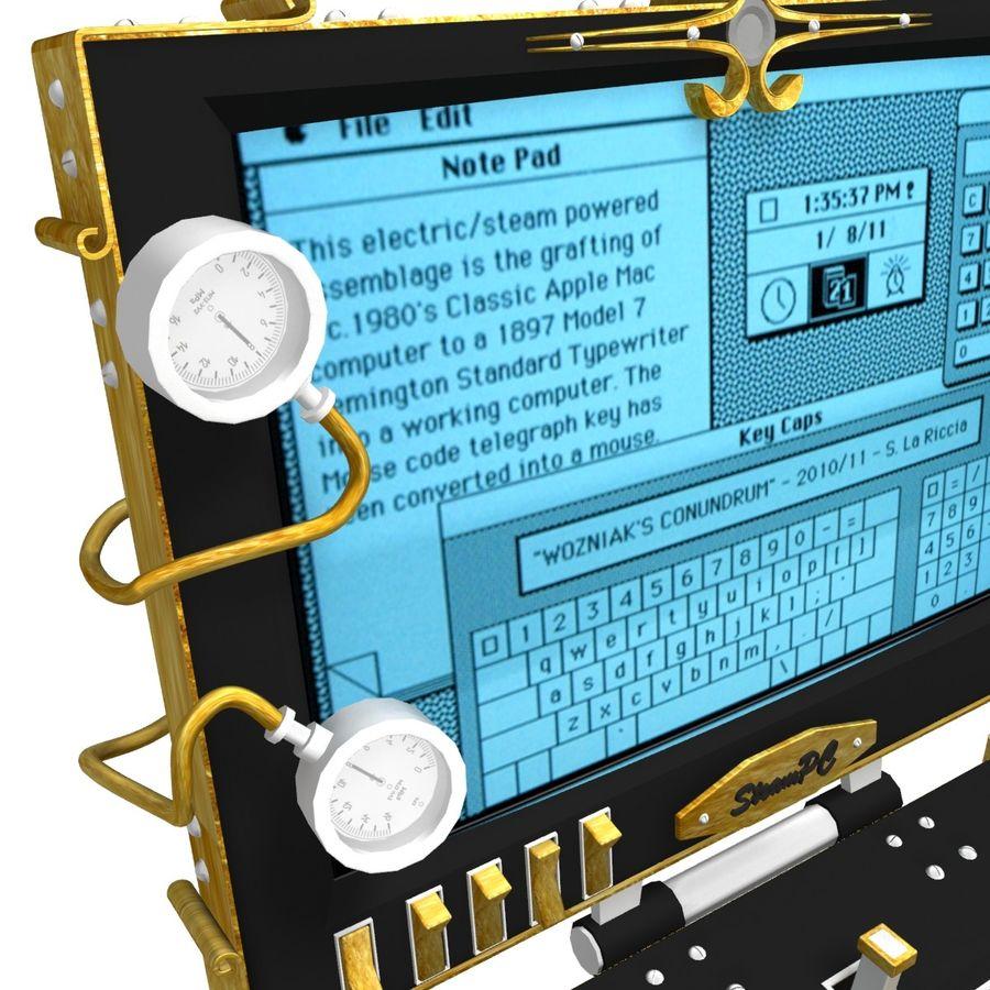 SteamPunk Laptop royalty-free 3d model - Preview no. 4